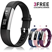 Fitness Tracker AIMIUVEI, Activity Tracker Watch with 3 Replaceable Bands IP 67 Waterproof Smart Wristband Band with Pedometer Sleep Monitor Step Calorie Counter Smart Watch for Kids Women Men