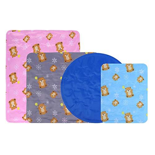 B/H Kühlmatte für Hunde,Kühl Hundedecke Kaltgelpad,Haustier Eiskissen, Sommer kühlende Katzenmatten-Blau 2_30 * 40cm