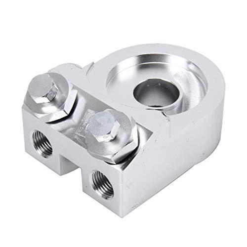 N / A Benzinpumpe Auto Universal Aluminium An8 Winkel Kuchen Ölfilter Sandwich Adapter, for Ölkühler Teller Kit Ölfilterkühler Sandwich Platte Adapter