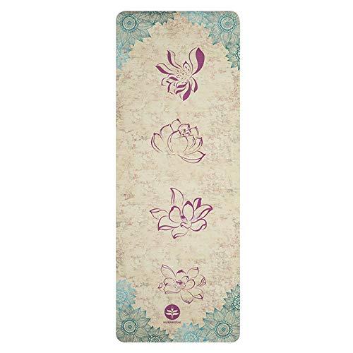 N / A Gimnasio en casa Yoga Mat Pad 1mm Plegable Gamuza Antideslizante Goma Mat Toalla Absorbe el Sudor Yoga Portátil Viajes Deportes Mantas Pilates 183x68x0.1CM
