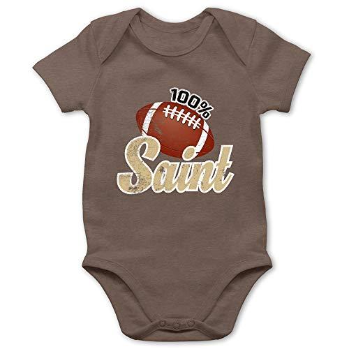Sport Baby - 100% Saint - 1/3 Monate - Braun - Baby Sport - BZ10 - Baby Body Kurzarm für Jungen und Mädchen