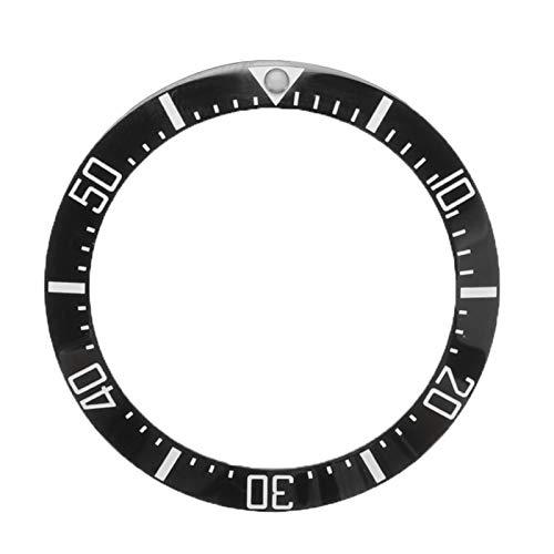 Flyuzi Relojes Reemplazar Accesorios Reloj Face Cerámica Bisel Inserto para 40 mm Submariner Automático Mens Negro/Azul/Verde 38mm (Color : Black)
