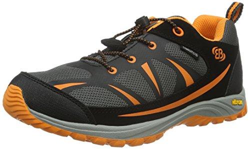 EB Kids 421055, Chaussures de Randonnée Basses Mixte Enfant, Gris (Grau/Schwarz/Orange), 32 EU