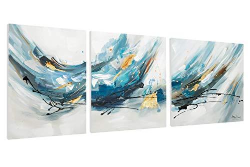 KunstLoft® Acrylschilderij 'Wave after Wave' 150x50cm meerdelige kunst