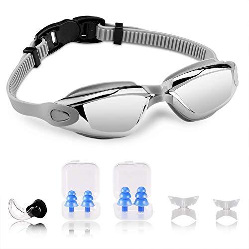 VACNITE Gafas de Natación, Antiniebla Protección UV Sin Fugas con Correa Ajustable,Gafas para Nadar para Adulto Hombre Mujer y Niños,Ideal para Todo Tipo de Agua, Piscina, Deportes Acuáticos