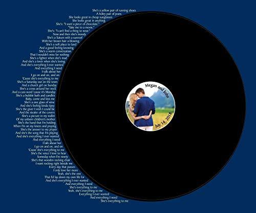 Record Wedding Song Guest Book Alternative - Your Photo Wedding Guest Book - First Dance Lyrics - Vinyl Record Guest Book Print - You Provide Song Lyrics -Unframed-20x24 - Approx 50-100 Sigs