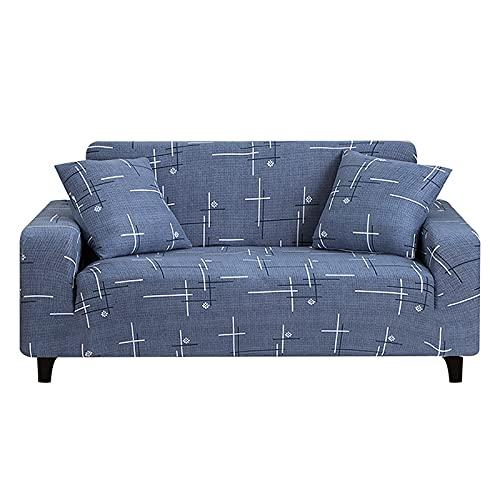 ASCV 1 Pieza Funda de sofá Estirada Estilo de línea de impresión Funda de sofá elástica Funda de sofá de Sala de Estar Funda de sofá de Dos plazas A1 2 plazas