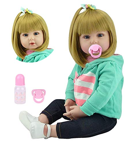 22 Inches Reborn Toddlers Reborn Baby Dolls Girl Realistic Soft Vinyl Silicone Dolls Look Real Doll Toddler Reborns