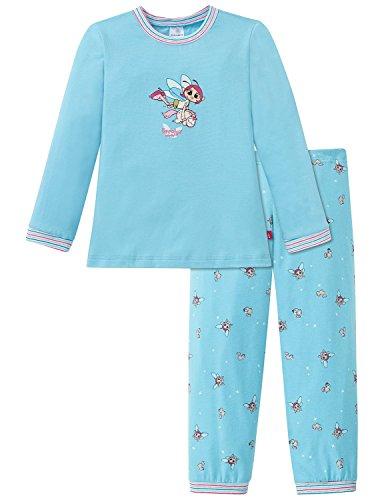 Schiesser Mädchen NICI Md lang Zweiteiliger Schlafanzug, Blau (türkis 807), 98