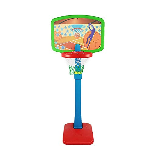 Yuybei Kid's Basketball Hoop Portable Basketball Hoop Height Adjustable Basketball Stand Backboard System for Kids Teenagers Youth Indoor Outdoo for Kids Teenagers Indoor Outdoor