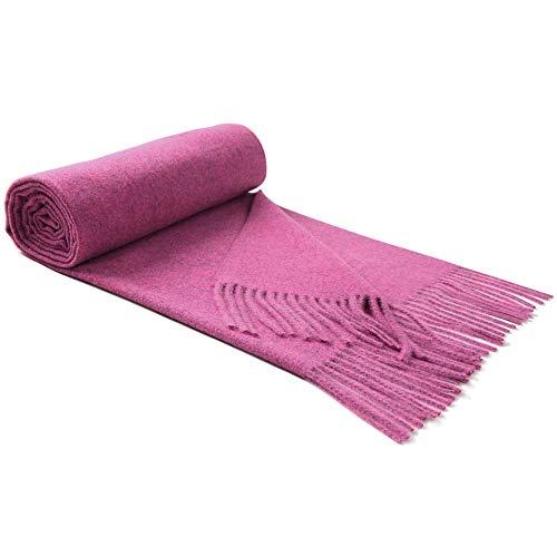 Preisvergleich Produktbild Lallier Luxuriöser Kaschmir-Schal,  lang,  dick,  weich,  Pashmina-Wolle,  190 x 61 cm,  übergroß,  Geschenk zum Jahrestag oder Geburtstag - Violett - Groß
