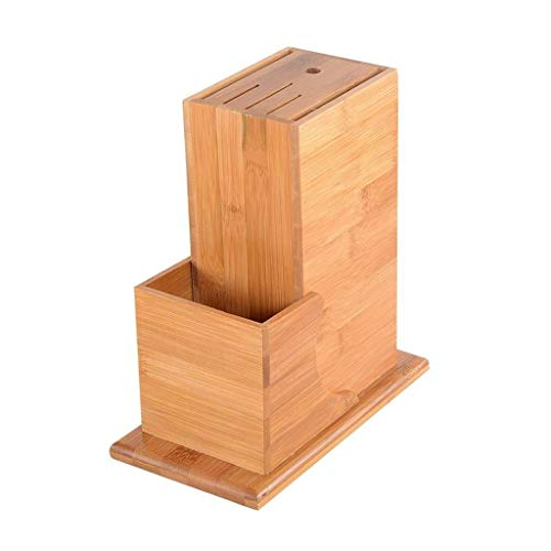 NYDZDM Bloque de Cuchillos con Las Ranuras for Tijeras y la nitidez de Rod Ecológico Bambú Portacuchillas for el depósito de Ahorro de Espacio de Almacenamiento Cuchillos (Size : A)