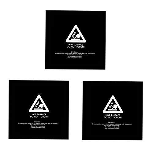 HzdaDeve Para superficies de edificios de impresora 3D, placa de construcción, 300 x 300 mm, adhesivo 3M (negro)