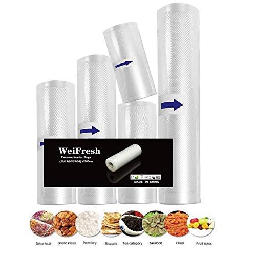 Bolsas de sellado al vacío,bolsas de cocina Sous Vide, sin BPA, bolsa de almacenamiento al vacío cortada a medida (5 tamaños...