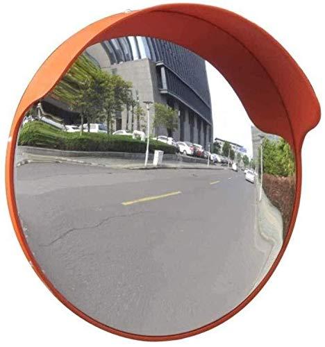 HQY buitenverkeer groothoeklens, veiligheidsspiegel dodehoek grote ronde spiegel voor binnen en buiten straathoeklens, ronde bewakingskruising diefstalbeveiligingsspiegel, weg 45 cm