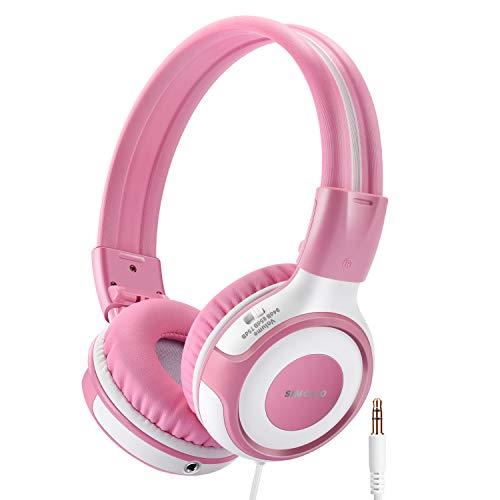 SIMOLIO Kids Headphones with 94dB,85dB,75dB Volume Limiter and MIC, Durable...