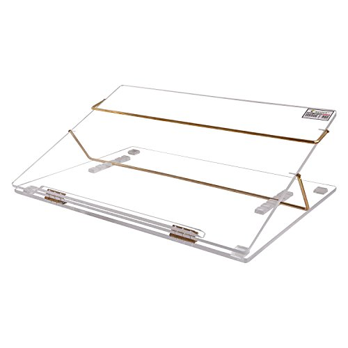 Rasper Clear Acrylic Table Top Elevator Writing Desk (Small Size 16 * 12 INCHES) with Adjustable Height