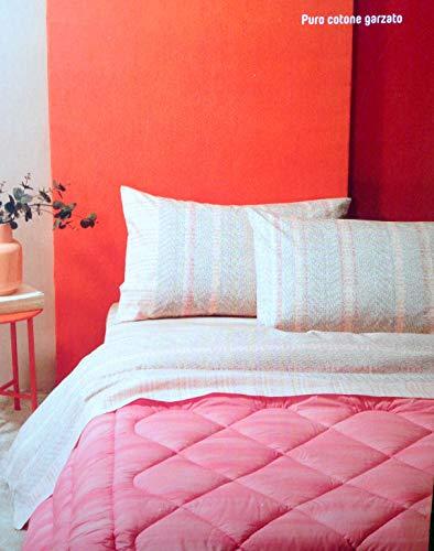 Bassetti - Juego de sábanas de franela 1 plaza Jumper 160 x 290 cm bajera con esquinas 90 x 200 cm + 1 funda de almohada color 41 beige tejido 100% algodón cepillado.