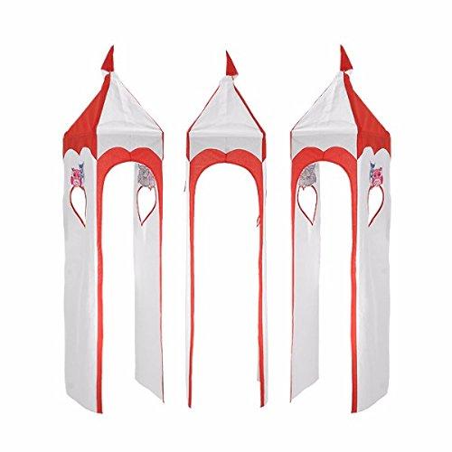 XXL Discount Tour pour lit Mezzanine Tour en Tissu Motif Tour de lit Rouge/Blanc