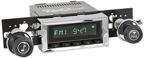 Retro Manufacturing HB-116-117-37-73 Hermosa Direct-Fit Radio for Classic Vehicle (Black Face and Buttons and Chrome Bezel)