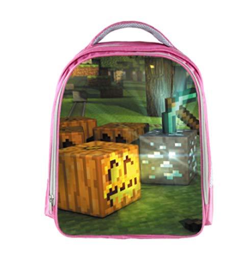 Minecrafting Anime Schultasche Kinder Schule Rucksack Spiel Kinder Schultaschen Cartoon Design Jugendliche Buch-Taschen-Foto color_13 Zoll
