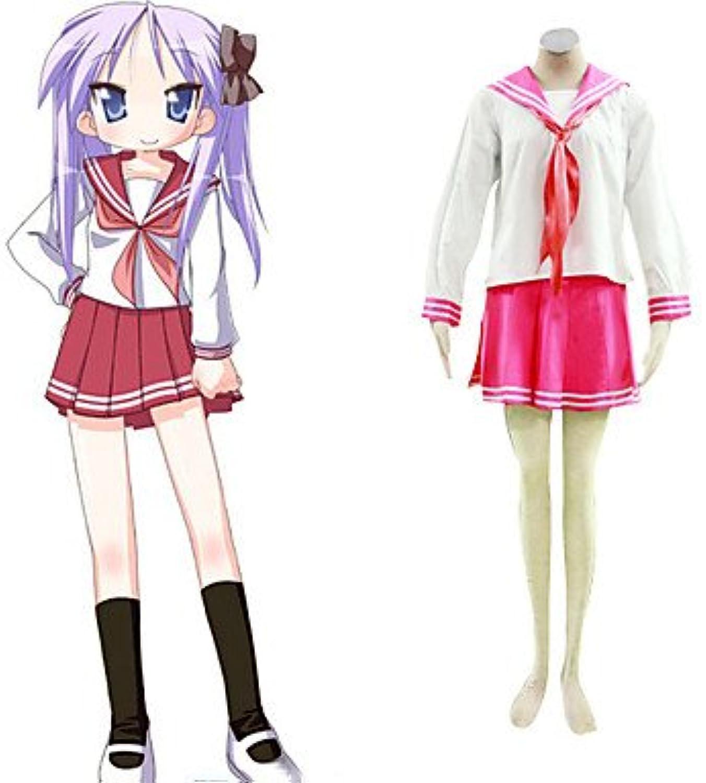 Lucky estrella Cosplay, Izumi Konata rossa uniforme,Taglia M (altezza 160cm-165cm, peso 45-50 kg)