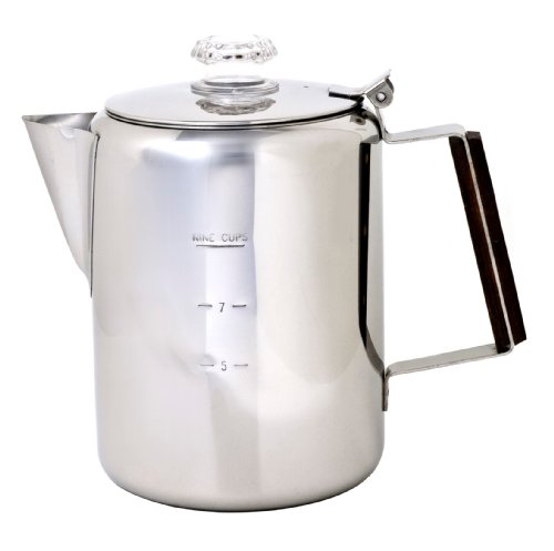Chinook Timberline Stainless Steel Coffee Percolator Cookware, 9 Cup