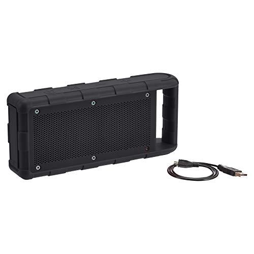 Amazon Basics - Altavoz portátil impermeable con Bluetooth para exterior, IPX5, 15W, negro