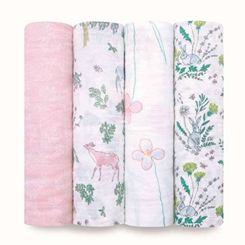 aden + anais Swaddle Blanket | Boutique Muslin Blankets for Girls & Boys | Baby Receiving Swaddles | Ideal Newborn & Infant Swaddling Set | Perfect Shower...