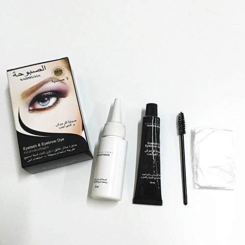 Yiwa Cils Teinture des sourcils Teinte Gel Eye Brow Mascara Cream Kit de pinceaux Yeux imperméables Cosmétiques Crème Dye sourcils (BLACK)