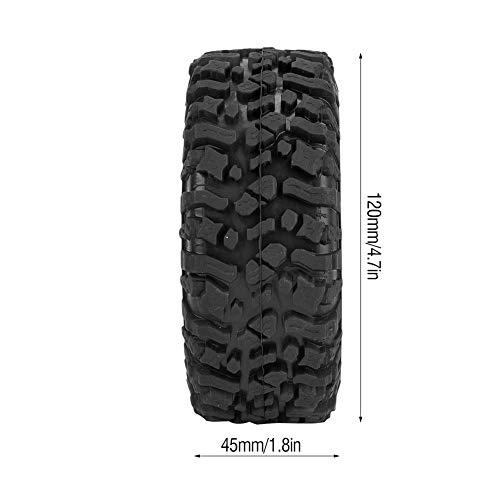 RC Autoreifen, 4 Stück Gummireifen Rad Reifen mit Schwamm für RC Crawler Auto-Zubehörteile(120 mm)