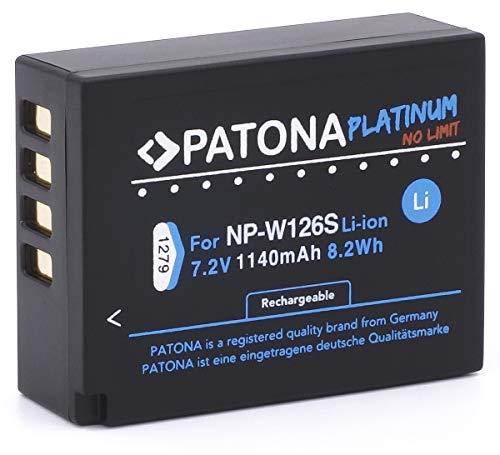 PATONA Platinum Ersatz für Akku Fujifilm NP-W126s NP-W126 (echte 1140mAh)