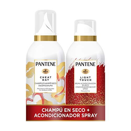 Pantene Pack Champú Seco + Bruma Acondicionadora En Seco, Desenredante, Sin Sulfatos, Para Pelo Fino