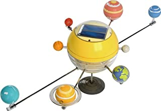 OWI OWI-MSK679 The Solar System Solar Kit, Solar-Paneled Driven Motor; 6 Colors of Opaque Acrylic Paint, Plus Brush