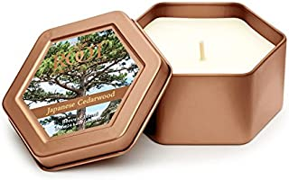 Root Candles Legacy Travel Tin Beeswax Candle, Japanese Cedarwood,