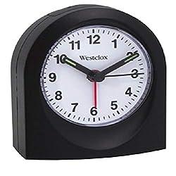 Westclox 47312 Quartz Alarm Clock Black Case