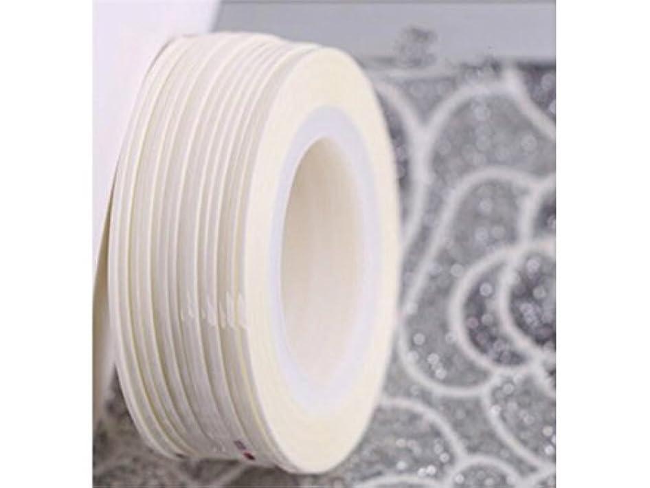海洋の申し立てる移動するOsize ネイルアートキラキラゴールドシルバーストリップラインリボンストライプ装飾ツールネイルステッカーストライピングテープラインネイルアート装飾(白)
