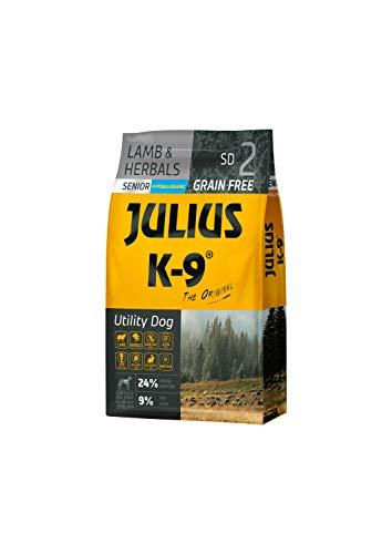 Julius K-9 Arbeitshund Senior/Leicht Lamm & Kräuter getreidefreies, glutenfreies Hunde-Trockenfutter, 1er Pack (1 x 10 kg)