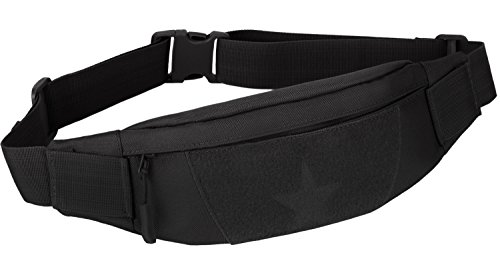 ArcEnCiel Military Tactical Waist Pack for Men Fanny Pack Fishing Bags Army Money Belt Sport Travel Cycling Mobile Phone Pouch (Black)