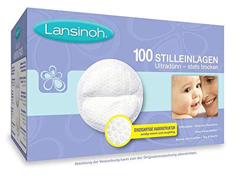 Lansinoh 20371 - Discos Absorbentes Desechables de Lactancia, 100 uds (trazo), color Blanco