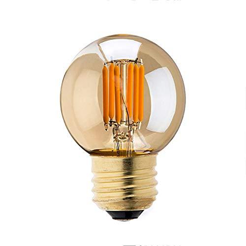 10 PC Edison G40 LED Bulb Dimmable 3W Led Filament Mini Globe Light Bulbs Replacement For Outdoor String Lights 2200K E27 220V Gold Tint Globe Lamp Flamingo Light Led Night Lamp-3w e26 110v
