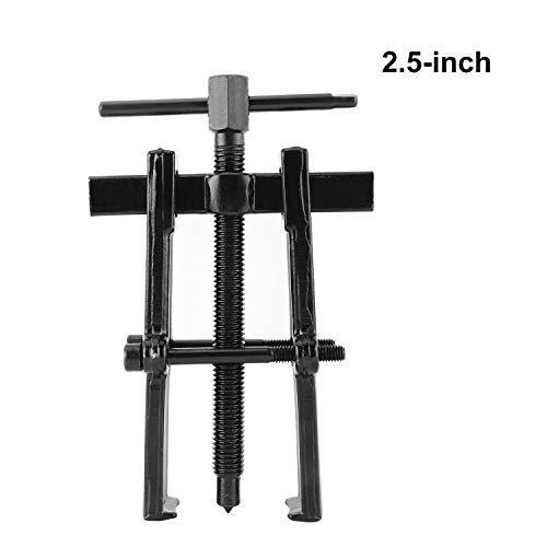 FreeTec 2 Jaw Bearing Gear Puller Remover Adjustable Carbon Steel Twin Legs Gear Puller Removal Tool 2.5-inch