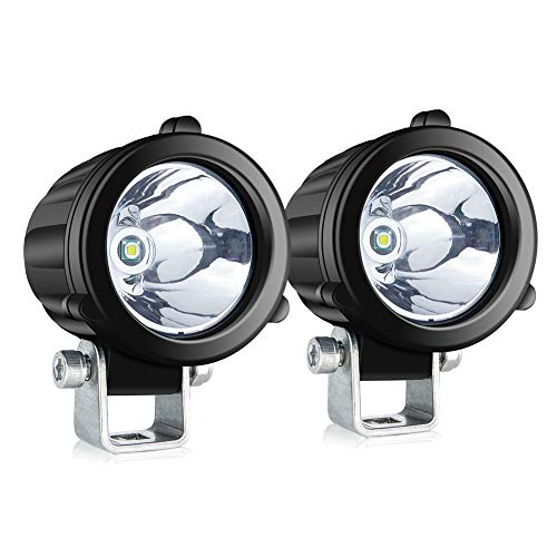 4WDKING Spot LED Driving Lights, 2 Inch Round LED Pods 2 Pcs 20W Waterproof Off Road Work Lamp for Motorcycle ATV Race Dirt Bike 4x4 Pickup Truck Boat Trailer