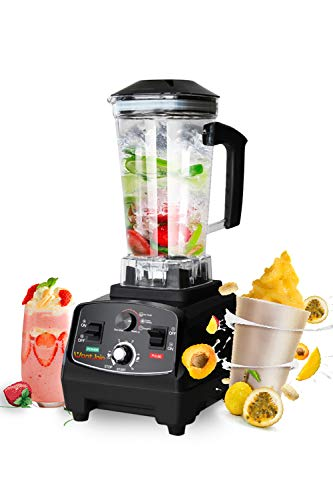 WantJoin Professional Blender Countertop for Home and Kitchen with High Speed 2200W, Timer Control, Smoothie Maker 2200ml for Crushing Ice, Frozen Dessert,Hot-Soup,Nuts