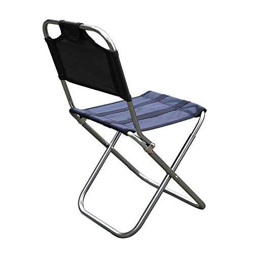 WWVAVA Silla plegable al aire libre de aleación de aluminio de pesca silla de camping barbacoa taburete plegable taburete portátil picnic silla de viaje, C