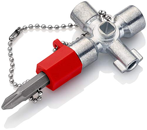 KNIPEX 00 11 02 Chiave universale per quadri ed armadi elettrici per tutti i sistemi di chiusura più comuni 44 mm