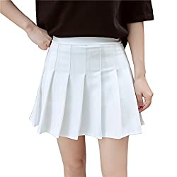 With inner shorts, avoid embarrassment. Acetate fabric for school and play. perfect compliment to a Girl Scout Cadette/Senior/Ambassador/Back to school season uniform , Also it can fit for many other occasions: scooters play ,halloween ,christmas and...