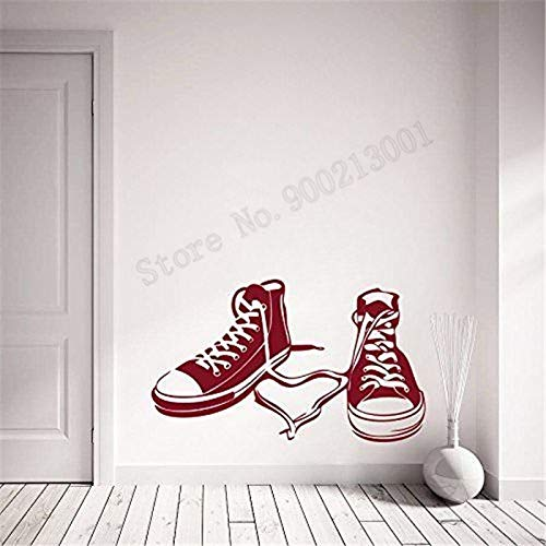 zqyjhkou Schuhe Dekoration Teen Wandaufkleber Vinyl Art Removeable Poster Schönheit Modern Life Decor Wandbild Design DIY Decals42x25cm