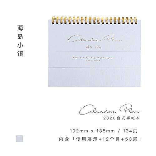 UNIVIEW Kalender 2020 Cloth Kalender Sammelbox Kalender-Postkarte Clip Set Schreibtisch-Wandkalender Neujahr Geschenk Tagesplaner (Color : 3)