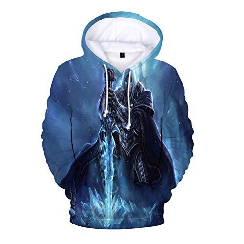 Warcraft Pullover Hispter Style Sudadera Men Slim Thin Warm Pullover Soft Light...